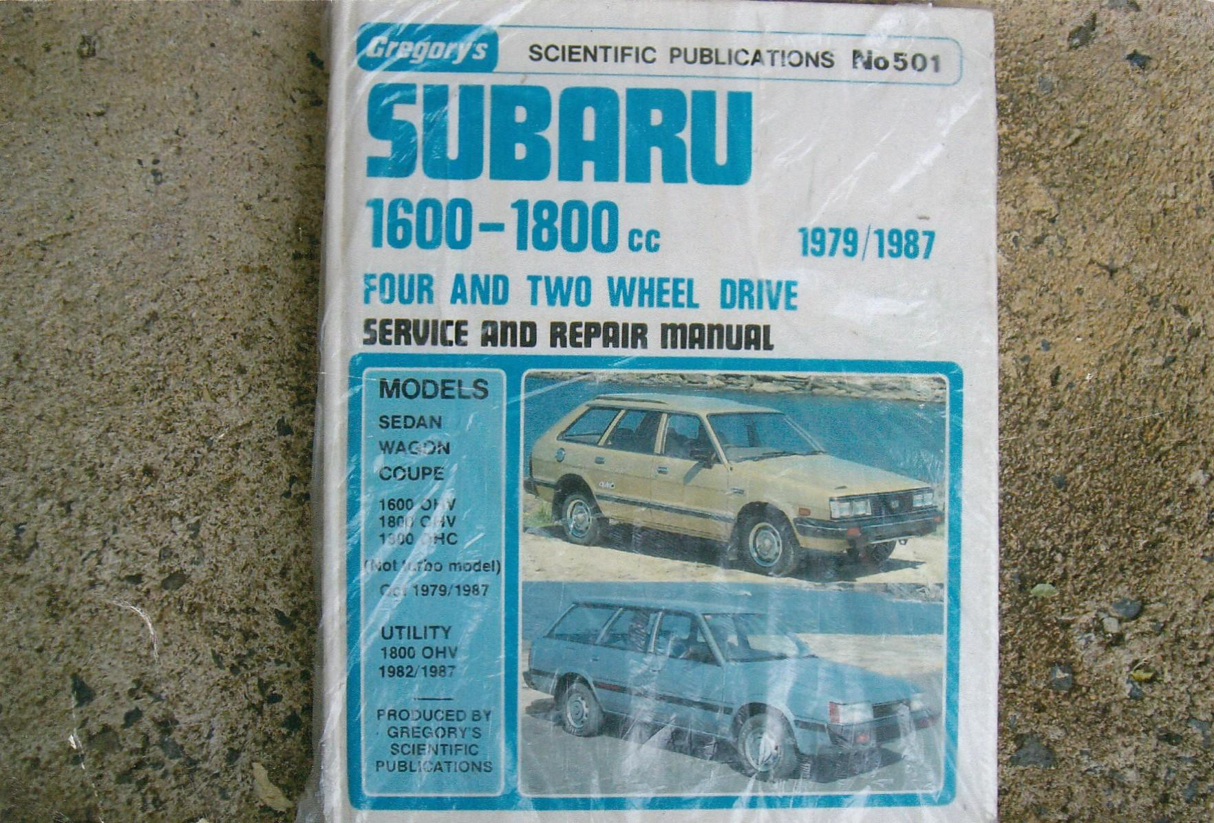 subaru workshop manuals